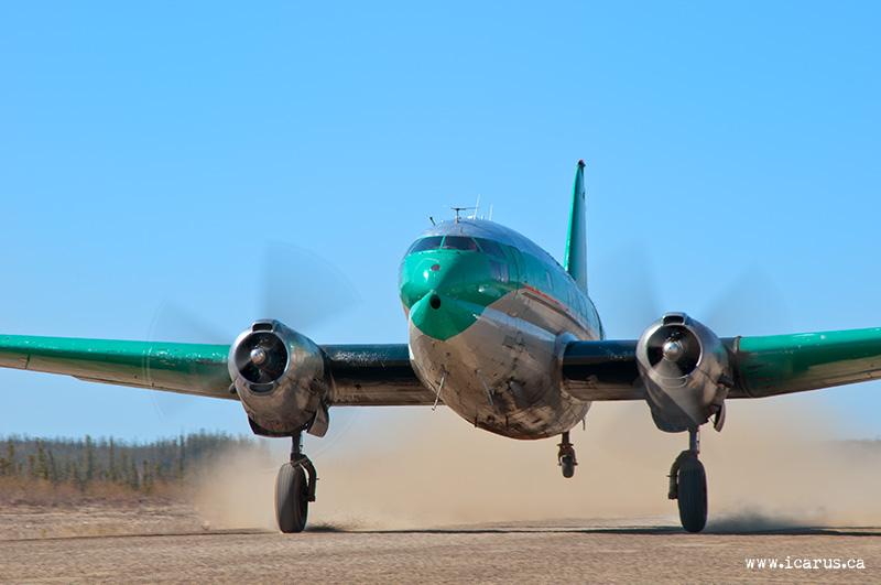C-46 Take-Off at Fort Good Hope